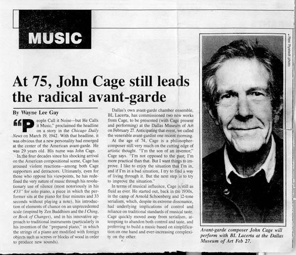 John cage essay music